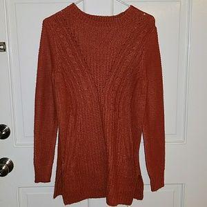 Mossimo xs orange sweater tunic